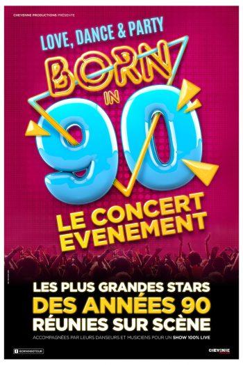 Affiche spectacle concert Born in 90 Zénith de Limoges métropole