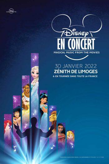 Affiche Disney en concert zénith de Limoges métropole famille enfants spectacle