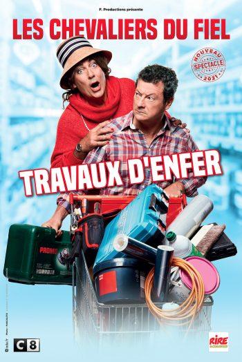 Affiche travaux d'enfer Les Chevaliers du fiel humour spectacle Zénith de Limoges métropole