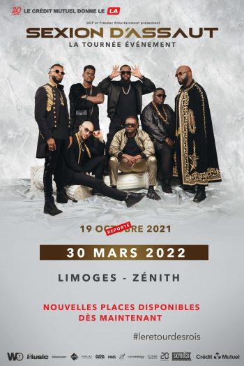 Sexion d'Assaut le retour des rois concert tournée zénith de limoges métropole 2022
