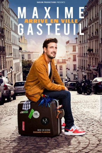 Affiche Maxime Gasteuil arrive en ville spectacle humour one man show Zénith de Limoges