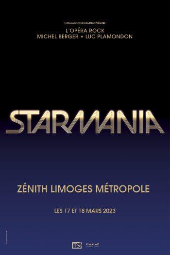 Affiche Starmania Zénith de Limoges métropole concert spectacle représentation visuel